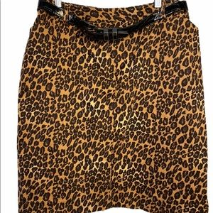 East 5th cheetah print leopard pencil skirt